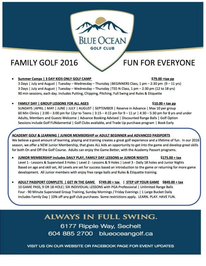 2016 - Full Family and Summer Camps
