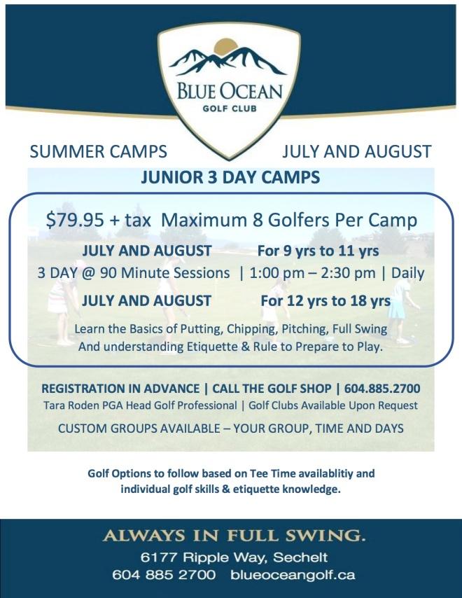 2016 Junior SUMMER Camps