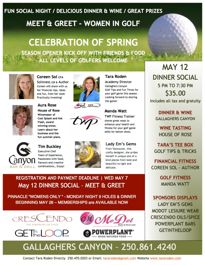 WOMEN IN GOLF  - Celebration of Spring