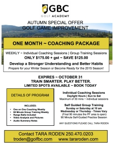 2014 Autumn Coaching Special